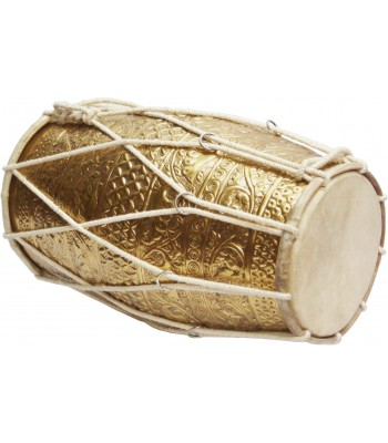 Indian Brass Embossed Dholak