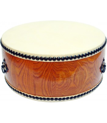 Japanese Taiko Style Shallow Drum Double Sided 40cm x 18cm