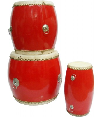 Chinese Temple Drums Tall Double Sided - Various Sizes