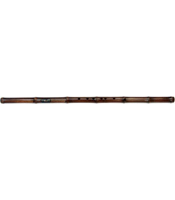 Brass Reed Dark Bamboo Flute - Bawu Key C